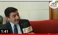 صورة لقاء مجله نهر الامل مع أ.خالد البحيرى مدير تنفيذى لغرفه الصناعات النسيجية المصريه