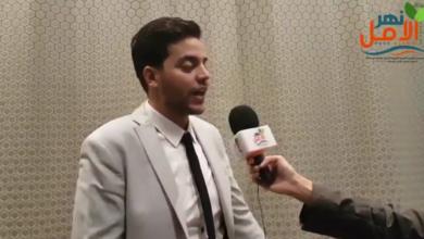 صورة لقاء مجلةنهر الامل مع كريم دسوقى ضوفى فريق بليفرز والتجارة الالكترونية