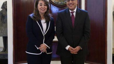 صورة رئيس الوزراء يلتقي غادة والي ويهنئها بمنصبها الأممي الرفيع