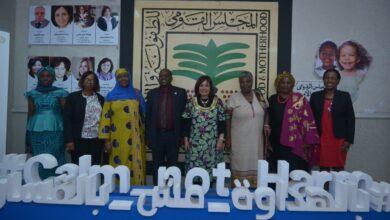صورة زيارة رئيس لجنة حقوق الطفل وممثلي الاتحاد الافريقي لمقر المجلس القومي للطفولة والأمومة