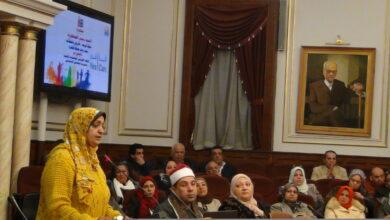 صورة الاستاذة نادية الطيب بمديرية تضامن القاهرة توضح جهود المديرية لدعم الاسر الاولى بالرعاية