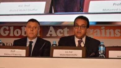 صورة وزير التعليم العالي ورئيس جامعة عين شمس يفتتحان فعاليات المؤتمر الدولي للجمعية الدولية للأورام