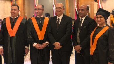 صورة حفل حصول د.اميرة عبد الحكيم  على ماجستير فى المعاملات الدوليه القانونية التجارية و اللوجستيات