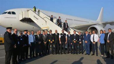 صورة طائرة خاصة لنقل المصريين الراغبين في العودة من الصين