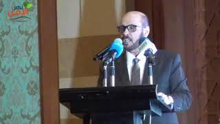 صورة أ.زيدان على الزيدان مدير مؤسسة الامير محمد بن فهد خلال احتفالية تسليم الجائزة
