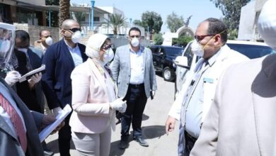 صورة وزيرة الصحة تتفقد مستشفيات الحميات والصدر