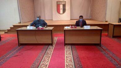 صورة وزير الرياضة يشهد اجتماع اللجنة الأولمبية لمناقشة خطة عودة النشاط الرياضي