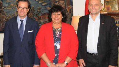 صورة وزيرة الثقافة تستقبل سفير فرنسا