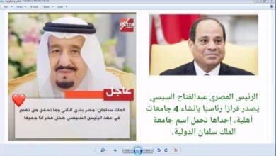 صورة مصر والسعودية ..تسعون عاما رسوخا وعمقا وصلابة